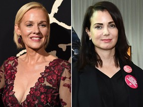 Penelope Ann Miller (L) and Mia Kirshner are seen in file photos.