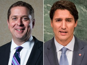 Conservative Party Leader Andrew Scheer and Liberal Prime Minister Justin Trudeau.