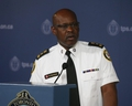 Toronto Police Chief Mark Saunders speaks to media on Monday August 5, 2019 about the rash of shootings over the weekend.