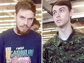 Kam McLeod, left, and Bryer Schmegelsky are seen in this undated combination handout photo provided by the RCMP. (Supplied/THE CANADIAN PRESS)
