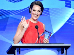 """Phoebe Waller-Bridge accepts the Outstanding Achievement in Comedy Award for """"Fleabag"""" onstage during the TCA Awards at The Beverly Hilton Hotel on Aug. 3, 2019 in Beverly Hills, Calif."""