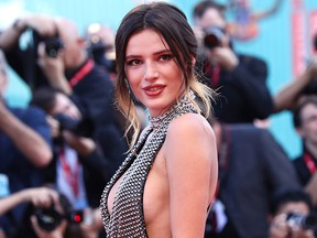 """Bella Thorne walks the red carpet ahead of the """"Joker"""" screening during the 76th Venice Film Festival at Sala Grande on Aug. 31, 2019 in Venice, Italy."""