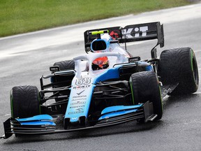 Williams driver Robert Kubica is seen during the first practice session at the Autodromo Nazionale circuit in Monza on September 6, 2019 ahead of the Italian Grand Prix. (MIGUEL MEDINA/AFP/Getty Images)