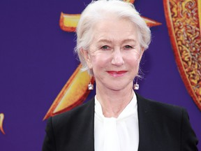 """Helen Mirren attends the premiere of Disney's """"Aladdin"""" on May 21, 2019 in Los Angeles, Calif. (Rich Fury/Getty Images)"""