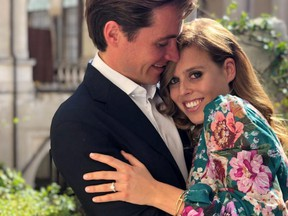Undated picture released by Buckingham Palace shows Princess Beatrice and Edoardo Mapelli Mozzi in Italy, whose engagement has been announced today, in this handout obtained by Reuters on Thursday, Sept. 26, 2019.
