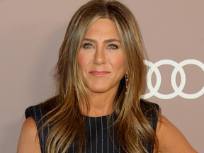 Jennifer Aniston attends Variety's 2019 Power of Women Luncheon held at Beverly Wilshire Four Seasons in Los Angeles, Calif., Oct. 11, 2019. (Adriana M. Barraza/WENN.com)