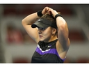 Bianca Andreescu of Canada reacts during the match against Naomi Osaka of Japan during the Women's singles Quarter Finals of 2019 China Open at the China National Tennis Center on October 4, 2019 in Beijing, China.