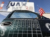 FLINT, MI - OCTOBER 23: A truck door with a calendar on it that shows the number of days that the UAW-GM strike has lasted is shown at the General Motors Flint Assembly plant on October 23, 2019 in Flint, Michigan. Striking United Auto Workers union members are voting on a tentative agreement this week that they reached with General Motors, and the results will be announced this Friday. The strike is the longest UAW national strike since 1970. (Photo by Bill Pugliano/Getty Images)