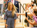 Sarah Jessica Parker attends a shoe signing event for her SJP line at David Jones Elizabeth Street Store on October 20, 2019 in Sydney, Australia.
