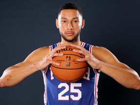 Ben Simmons of the Philadelphia 76ers poses for a portrait during Media Day at 76ers Training Complex on Sept. 30, 2019 in Camden, N.J. (Elsa/Getty Images)