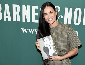 """Actress Demi Moore attends the signing of her memoir """"Inside Out"""" at Barnes & Noble Union Square on Sept. 24, 2019 in New York City. (Jamie McCarthy/Getty Images for ABA)"""