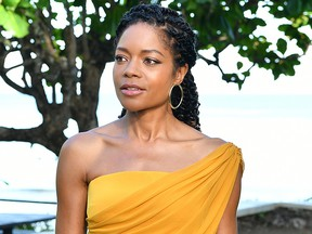 "Cast member Naomie Harris attends the ""Bond 25"" film launch at Ian Fleming's Home GoldenEye on April 25, 2019 in Montego Bay, Jamaica."
