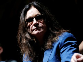 """Ozzy Osbourne attends a news conference to announce the """"Ozzfest Meets Knotfest"""" music festival at the Hollywood Palladium in Los Angeles, May 12, 2016. (REUTERS/Mario Anzuoni /File Photo)"""