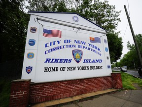 A view of the entrance to Rikers Island penitentiary complex in New York, May 17, 2011. (EMMANUEL DUNAND/AFP/Getty Images)