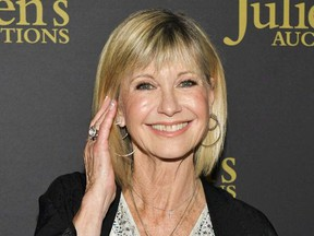 """Olivia Newton-John attends the VIP reception for upcoming """"Property of Olivia Newton-John Auction Event at Juliens Auctions on October 29, 2019 in Beverly Hills, California."""