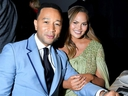 L-R) John Legend and Chrissy Teigen attend the 2019 Baby2Baby Gala presented by Paul Mitchell on November 9, 2019 in Los Angeles, California.