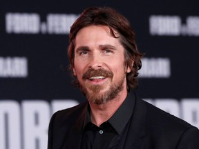 "Cast member Christian Bale poses at a special screening for the movie ""Ford v Ferrari"" in Los Angeles, California, U.S., November 4, 2019."