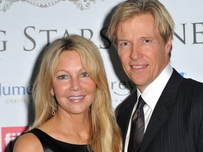 Heather Locklear and Jack Wagner attend the the FitFlop Shooting Stars Benefit Closing Ball following a two-day golf tournament raising vital funds for Make-A-Wish Foundation U.K. at the Royal Courts of Justice on August 5, 2011 in London. (Samir Hussein/Getty Images for FitFlop Shooting Stars Benefit)