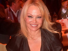 Pamela Anderson attends the Gut Aiderbichl Christmas Market opening in Henndorf am Wallersee, Austria, on Nov. 12, 2019.