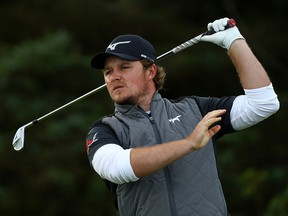 Eddie Pepperell plays his shot from the fifth tee during the first round of the Open Championship held on the Dunluce Links at Royal Portrush Golf Club on July 18, 2019. (Francois Nel/Getty Images)