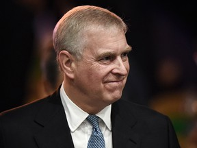 In this file photo taken on November 3, 2019,Prince Andrew leaves after speaking at the ASEAN Business and Investment Summit in Bangkok. (LILLIAN SUWANRUMPHA/AFP via Getty Images)
