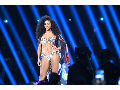 Miss USA Cheslie Kryst competes in the swimsuit competition during the 2019 Miss Universe Pageant at Tyler Perry Studios in Atlanta, Ga., on Dec. 8, 2019.