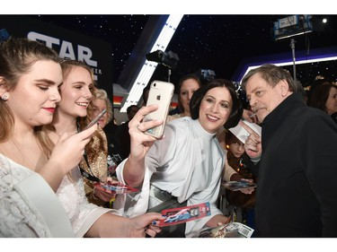 "Mark Hamill arrives for the world premiere of ""Star Wars: The Rise of Skywalker,"" the highly anticipated conclusion of the Skywalker saga on Dec. 16, 2019 in Hollywood, Calif."