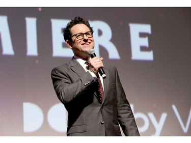 "Director, writer and producer J.J. Abrams speaks onstage during the World Premiere of  world premiere of ""Star Wars: The Rise of Skywalker,"" the highly anticipated conclusion of the Skywalker saga on Dec. 16, 2019 in Hollywood, Calif."