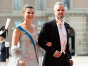In this file photo taken on June 13, 2015, Norwegian Princess Martha Louise and her husband Ari Behn arrive for the wedding of Sweden's Crown Prince Carl Philip and Sofia Hellqvist at Stockholm Palace.