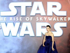 """Daisy Ridley attends the """"Star Wars: The Rise of Skywalker"""" European Premiere at Cineworld Leicester Square in London, England, on Dec. 18, 2019."""