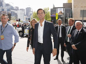 Prime Minister Mark Rutte of the Netherlands arrives at the International Games Week convention at the Melbourne Convention and Exhibition Centre on October 11, 2019 in Melbourne, Australia.