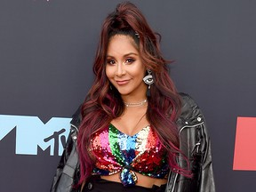 """Nicole """"Snooki"""" Polizzi attends the 2019 MTV Video Music Awards at Prudential Center on Aug. 26, 2019, in Newark, N.J."""