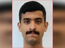 Royal Saudi Air Force 2nd Lt. Mohammed Saeed Alshamrani, airman accused of killing three people at a U.S. Navy base in Pensacola, Fla., is seen in an undated military identification card photo released by the Federal Bureau of Investigation Dec. 7, 2019.