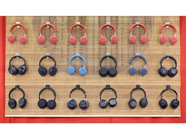 Vtsonic VT-H162 Bluetooth headphones are displayed during CES 2020 at the Las Vegas Convention Center on Jan. 8, 2020, in Las Vegas.
