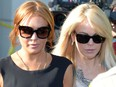 US actress Lindsey Lohan and her mother Dina (R) leave Airport Courthouse after the pre-trial hearing on January 30, 2013 in Los Angeles ,California.