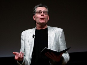 """Author Stephen King reads from his new novella """"Ur"""", exclusively available on the Kindle, at an unveiling event for the Amazon Kindle 2 at the Morgan Library & Museum February 9, 2009 in New York City."""