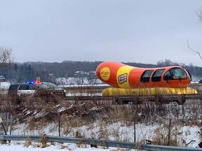 Cops in Wisconsin pulled over the Oscar Mayer weinermobile. (Facebook)