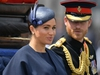 """(FILES) In this file photo taken on June 08, 2019 Britain's Meghan, Duchess of Sussex (L) and Britain's Prince Harry, Duke of Sussex (R) return to Buckingham Palace after the Queen's Birthday Parade, 'Trooping the Colour', in London. - The Canadian government has yet to decide whether it will assume the security costs associated with Prince Harry and Meghan Markle's decision to split their time between Canada and Britain, Prime Minister Justin Trudeau said January 13, 2020. """"I think that is part of the reflection that... needs to be had, and there are discussions going on,"""" Trudeau said in an interview with Canadian television channel Global. (Photo by Daniel LEAL-OLIVAS / AFP) (Photo by DANIEL LEAL-OLIVAS/AFP via Getty Images)"""