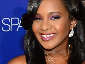 """A file picture taken on  Aug. 16, 2012, shows Bobbi Kristina Brown arriving at Tri-Star Pictures' """"Sparkle"""" premiere at Grauman's Chinese Theatre in Hollywood, Calif."""