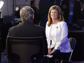 Interim Conservative leader Rona Ambrose is interviewed at the federal Conservative leadership convention in Toronto on May 27, 2017. A new poll finds Conservative voters are far more sure about what they want in a new leader for their party than they are about who should fill that job.