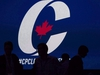 CP-Web.  Supporters take their seats during the opening night of the federal Conservative leadership convention in Toronto on Friday, May 26, 2017. An annual gathering of Canadian conservatives begins in Ottawa Thursday night at a time when the movement is being rocked by allegations of sexual misconduct against some of its leaders and questions about how others have handled those allegations. THE CANADIAN PRESS/Nathan Denette ORG XMIT: CPT141
