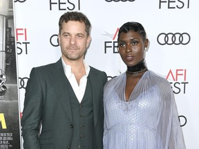"""Joshua Jackson and Jodie Turner-Smith attend the """"Queen & Slim"""" Premiere at AFI FEST 2019 presented by Audi at the TCL Chinese Theatre on November 14, 2019 in Hollywood, California."""
