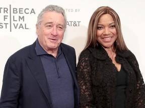 Robert De Niro and Grace Hightower attend Showtime's world premiere of The Fourth Estate at the Tribeca Film Festival at BMCC Tribeca Performing Arts Center on April 28, 2018 in New York City.  (Cindy Ord/Getty Images for Showtime)