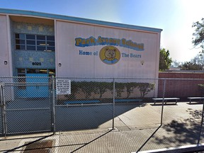 Park Avenue Elementary School in the Los Angeles suburb of Cudahy. (Google Street View)
