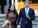 Prince Harry, Duke of Sussex and Meghan, Duchess of Sussex depart Canada House on Jan. 7, 2020, in London, England.