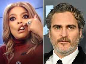 Wendy Williams apologized after making fun of Joaquin Phoenix's 'cleft lip' on her television show. (YouTube/Getty Images)
