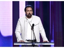 Nicolas Cage speaks onstage during the 2020 Film Independent Spirit Awards.