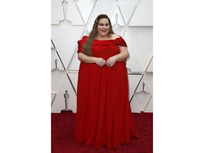 Chrissy Metz  poses on the red carpet at the 92nd Annual Academy Awards at Hollywood and Highland on Feb. 9, 2020 in Hollywood, Calif.