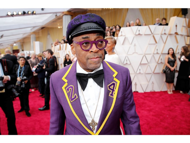 Spike Lee poses on the red carpet during the Oscars arrivals at the 92nd Academy Awards in Hollywood, Los Angeles, California, U.S., February 9, 2020. REUTERS/Mike Blake     TPX IMAGES OF THE DAY ORG XMIT: OSE16