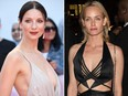 Caitriona Balfe (L) and Amber Valletta are seen in file photos.